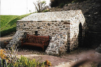 Said to be the smallest chapel in Wales, St. Trillo's has seats for only six people. Photo courtesy of Sharon Whitley Larsen.