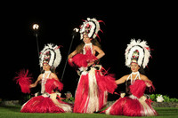 Traditional Hawaiian dancers entertain visitors at the Te Au Moana Luau dinner in Wailea, Maui. Photo courtesy of Margot Black.