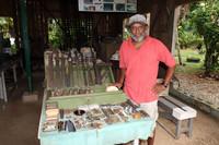 The Peter Joseph World War II Museum displays U.S. and Japanese artifacts from World War II on the island of Munda in the Solomon Islands. Photo courtesy of Doug Hansen.