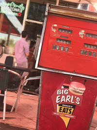 Big Earl's Greasy Eats is housed in a former filling station in Cave Creek, Arizona. Photo courtesy of Nicola Bridges.