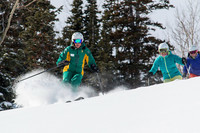 Participants in Deer Valley's Women's Ski Clinic in Park City, Utah, enjoy camaraderie while improving ski techniques with top-class female instructors. Photo courtesy of Deer Valley Resort.