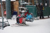 Skiers ride a lift at Utah's Sundance Mountain Resort. Photo courtesy of David Latt.