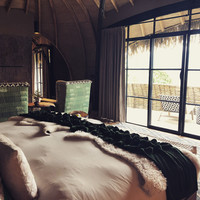 The rooms at Bisate Lodge in Rwanda offer a mix of rustic and elegant. Photo courtesy of Candyce H. Stapen.