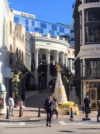 Rodeo Drive in Beverly Hills, California, is noted among the world's top destinations for shoppers, browsers and people-watchers. Photo courtesy of Halina Kubalski.