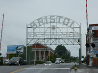 A historic sign welcomes visitors to Bristol, Tennessee. Photo courtesy of Steve Bergsman.