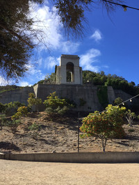 A monument on Catalina Island, California, honors William Wrigley Jr., who owned and developed the island. Photo courtesy of Kitty Morse.