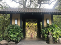 The eponymous Golden Door opens to the luxury spa just outside of San Diego. Photo courtesy of Nicola Bridges.