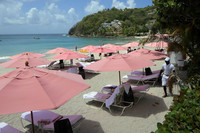 Guests relax on the beach at BodyHoliday Saint Lucia hotel in St. Lucia. Photo courtesy of Doug Hansen.