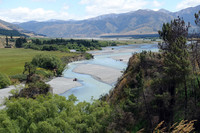 The overlook on the way into Hanmer Springs provides visitors with a view of the river valley before entering this delightful town on New Zealand's North Island. Photo courtesy of Bill Neely.