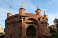 The barbican, once part of the city walls, still stands guard at one end of Rynek Glowny square in Krakow, Poland. Photo courtesy of Barbara Selwitz.