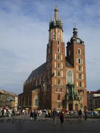 St. Mary's Basilica soars above Rynek Glowny, one of the most important squares in Krakow, Poland. Photo courtesy of Barbara Selwitz.