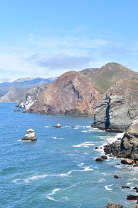 The Marin Headlands just across the Golden Gate Bridge are part of San Francisco's rugged Pacific coastline. Photo courtesy of Donna Barnett.