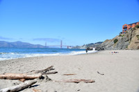 San Francisco's China Beach offers hikers views of Golden Gate Bridge and the Marin Headlands. Photo courtesy of Donna Barnett.