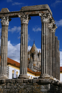 The Roman Temple of Evora dates to the second century and is just one of many attractions in the ancient Portuguese town. Photo courtesy of Doug Hansen.