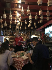 The cozy atmosphere at Filippi's Pizza Grotto, in San Diego's Little Italy since 1950, comes from traditional Italian roots. Photo courtesy of Lesley Sauls.