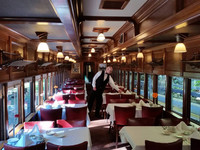 Lunch aboard the Eureka Springs & North Arkansas Railway is a treat for anyone who enjoys trains. Photo courtesy of Eureka Springs & North Arkansas Railway.
