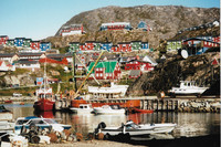 Qaqortoq, a charming town of 3,000 in southern Greenland, was founded in 1775. Photo courtesy of Sharon Whitley Larsen.