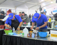 Competitors race against the clock to get their dishes turned in on time at the 2018 World Food Championships in Orange Beach, Alabama. Photo courtesy of Victor Block.