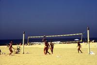 All-day volleyball games are a common sight in Huntington Beach, California. Photo courtesy of Halina Kubalski.