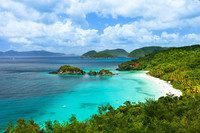 Trunk Bay is one of the popular beaches on St. Johns in the U.S. Virgin Islands. Photo courtesy of Alexander Shalamov.