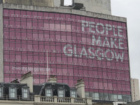 """The city of Glasgow, Scotland, adopted the motto """"People Make Glasgow"""" in 2013. Photo courtesy of Candyce Stapen."""