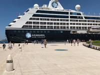 The Azamara Pursuit docks at Zadar, Croatia. Photo courtesy of Candyce Stapen.