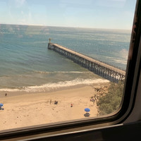 Passengers on the Coast Starlight enjoy scenery that ranges from the Pacific Ocean to Mount Shasta. Photo courtesy of Sharon Whitley Larsen.