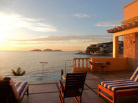 The view from the terrace at Casa Lucila hotel in Mazatlan, Mexico, offers guests the opportunity to relax with a view of the Pacific Ocean. Photo courtesy of Stuart Wasserman.