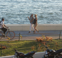 Joggers and bicyclists enjoy the Malecon in Mazatlan, Mexico. Photo courtesy of Stuart Wasserman.