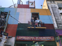 This colorful facade welcomes visitors to La Boca, a neighborhood in Buenos Aires, Argentina. Photo courtesy of Philip Courter.