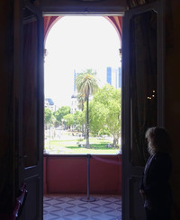 From Casa Rosada, the seat of the Argentine national government in Buenos Aires, it is possible to look out over Plaza de Mayo, just like the president does. Photo courtesy of Philip Courter.