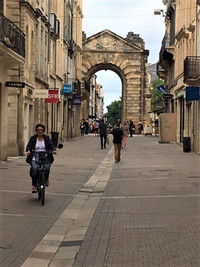 Old Town Bordeaux, France, a UNESCO World Heritage Site, is a treasure where cycling is a popular mode of transportation. Photo courtesy of Halina Kubalski.