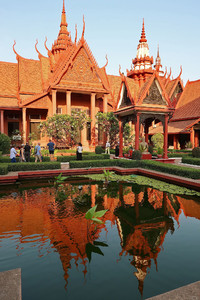 The National Museum of Cambodia in Phnom Penh displays beautiful architecture and ancient artifacts. Photo courtesy of Doug Hansen.