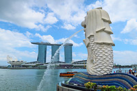 The Marina Bay Sands hotel towers over Singapore and provides 360-degree views of the city. Photo courtesy of Doug Hansen.