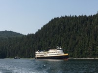"The S.S. Legacy plies Alaskan water during an ""UnCruise."" Photo courtesy of Margot Black."