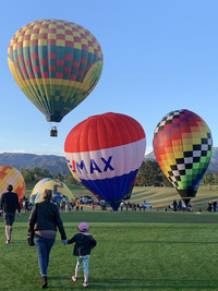Hot air balloons take off from The Westin Mission Hills Golf Resort & Spa in Rancho Mirage, California, for the Sixth Annual Cathedral City Hot Air Balloon Festival. Photo courtesy of Sharon Whitley Larsen.