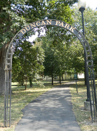 Duncan Park still remains near Elizabeth Hardwick's neighborhood in Lexington, Kentucky. Photo courtesy of Steve Bergsman.