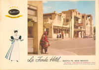 An early postcard depicts La Fonda Hotel in Santa Fe, New Mexico. Photo courtesy of Jim Farber.