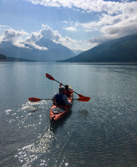 Kayaking at the Eklutna Lake Recreation Area provides memories from Anchorage, Alaska. Photo courtesy of Margot Black.