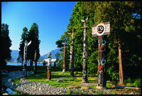 The presence of First Nation people in Vancouver, British Columbia, Canada, is embodied in totem poles in Stanley Park. Photo courtesy of Tourism Vancouver.