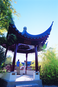 Visitors enjoy the Dr. Sun Yat-Sen Classic Chinese Garden in Vancouver, British Columbia, Canada.  Photo courtesy of Tourism Vancouver.
