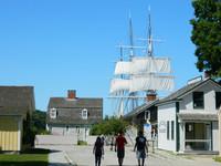 Visitors explore Mystic Seaport, Connecticut. Photo courtesy of Steve Bergsman.