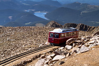 The Pikes Peak Railway carries visitors to the summit of Pikes Peak in Colorado. Photo courtesy of Teri Virbickis/Dreamstime.com.
