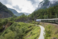 Norway's fjords are among the natural features passengers can see from the Flam Railway. Photo courtesy of Margareet De. Groot/Dreamstime.com.