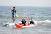 Kayaking and surfing are popular water activities at Virginia Beach. Photo courtesy of Virginia Beach Tourism.