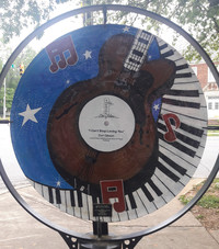 A monument celebrating musician Don Gibson greets visitors to Selby, North Carolina. Photo courtesy of Steve Bergsman.