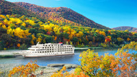 Cruising along the New England coastline is a good way to see fall foliage in that part of the country. Photo courtesy of American Cruise Lines.