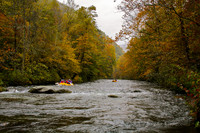 Combine whitewater thrills and Southern fall foliage with a rafting trip. Photo courtesy of Great Freedom Adventures.