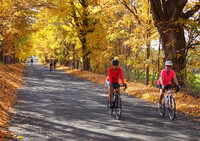Fall foliage in Vermont and the New York Hudson Valley is easily accessible by bicycle. Photo courtesy of Nantahala Outdoor Center.