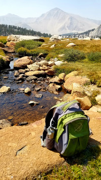 Cottonwood Lake Meadow provides the perfect site for a backpacker's lunch in California's Sierra Madre Mountains near Lone Pine. Photo courtesy of Jim Farber.